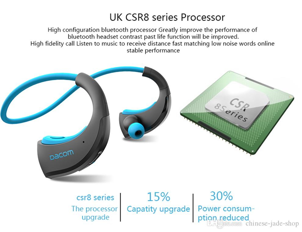 DACOM Armor IPX5 Cuffie Bluetooth impermeabili Cuffie senza fili Sport da corsa Cuffie Ear-hook con microfono / lt