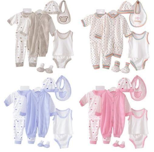 592afe5242e71 2019 Newborn Clothing Set 0 3M Newborn Baby Clothing Set Baby Boys Girls  Clothes Cotton Polka Dot Pyjama Overall Bibs Underwear From Crazyfairyland