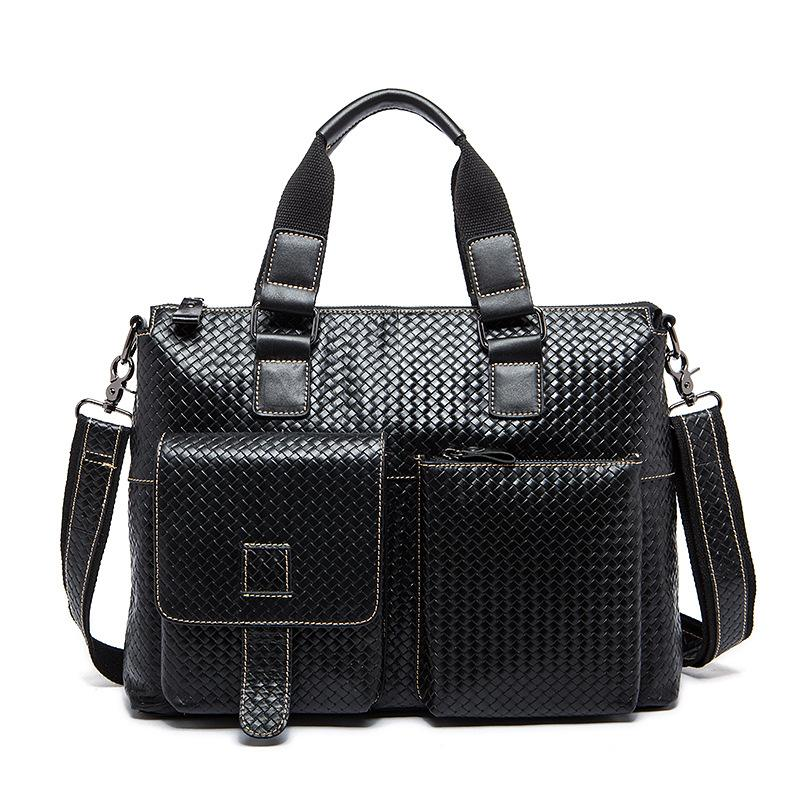 60309c7389a Wholesale- Hot 100% Genuine Leather Men Bag Brand New Men s ...