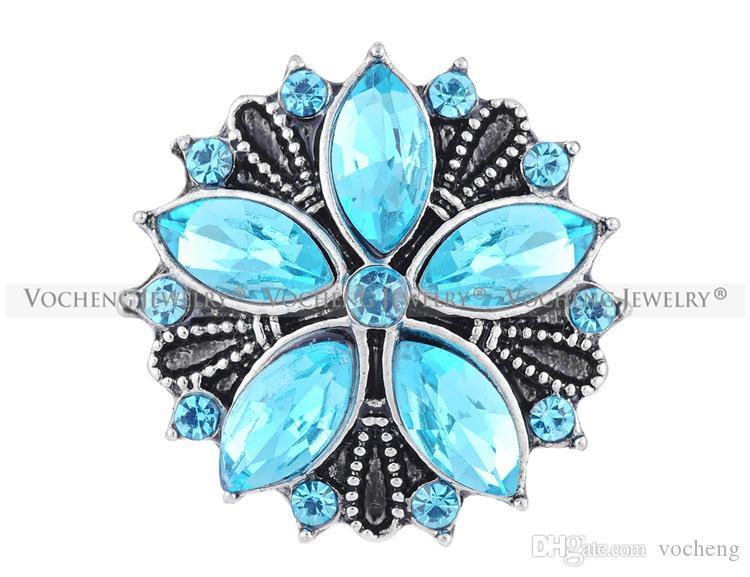 NOOSA 18mm Ginger Snap Full Bloom 3 Couleurs Cristal Vintage Bijoux VOCHENG Vn-1099