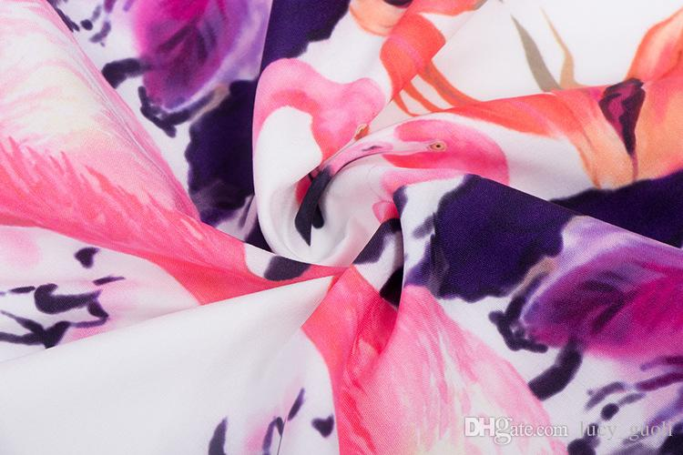Abiti da festa casual floreali allentati da donna Abito da festa con stelle estive di grandi dimensioni abito senza maniche da donna con gru e stampa floreale vintage