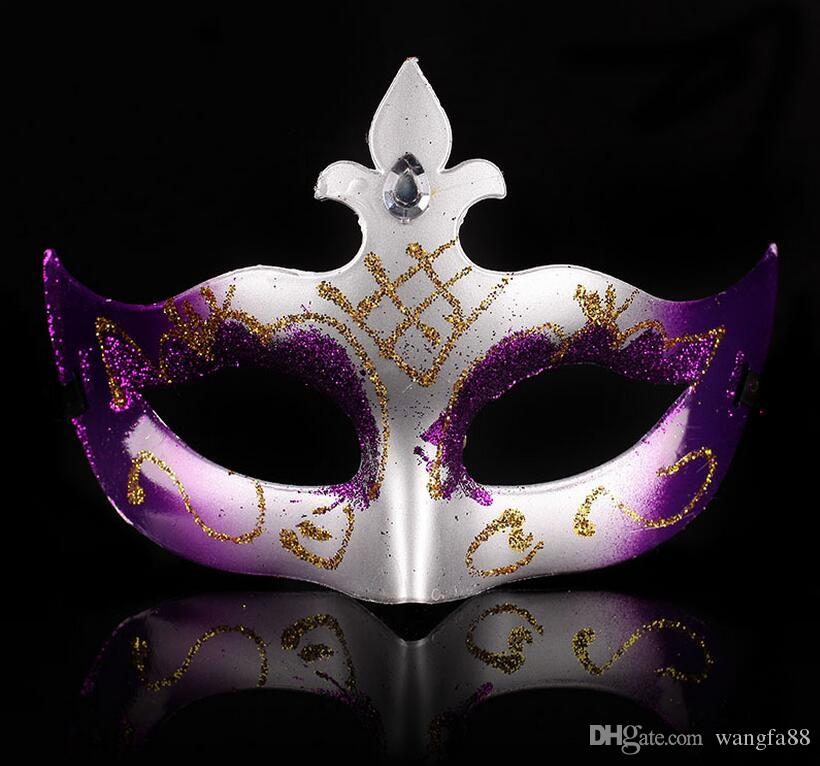 Men's retro Greco-Roman Gladiator masquerade mgold Powder Painted Mask Halloween Masquerade Masks Mardi Gras Venetian Dance Party Face The M