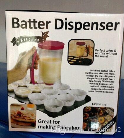 2016 New Baking Essentials Cake Batter Cream Dispenser Dough Cupcake Batter Dispensers kitchen dining bar cooking tools