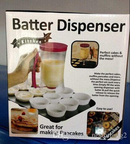 2016 جديد أساسيات الخبز كعكة العجين كريم موزع العجين كب كيك الخليط موزعات المطبخ الطعام بار أدوات الطبخ