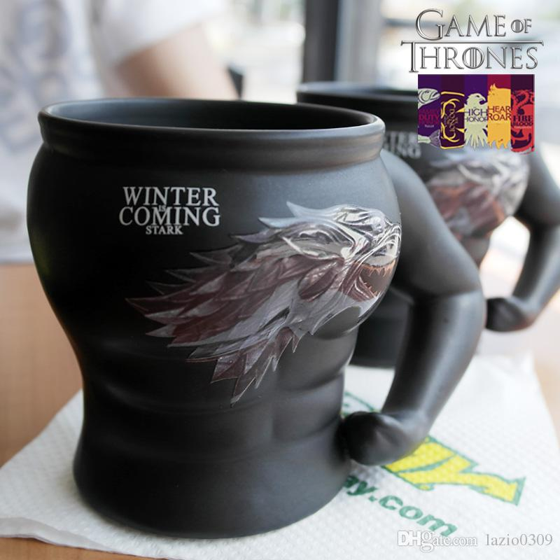 Fresh Retro Game Of Thrones Cup Stark Sigil Mug Creative Ice Dragon  DH54