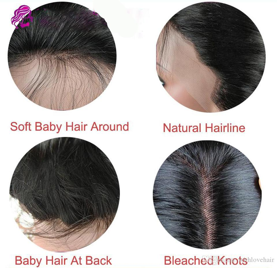 Unprocessed Malaysian Virgin Human Hair Full Lace Wigs Deep Wave Glueless Lace Front Wigs With Baby Hair For Black Women