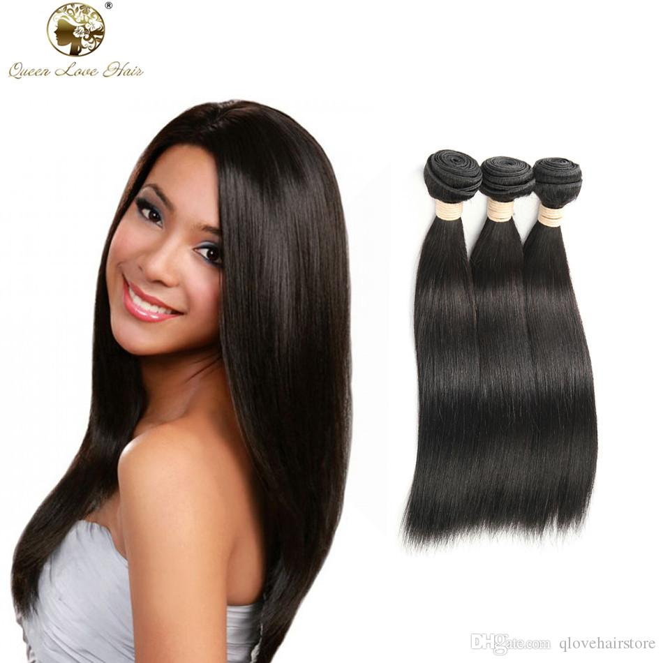 Queen Love Hair 7a Thick Malaysian Straight Hair 3 Bundles Maylasian