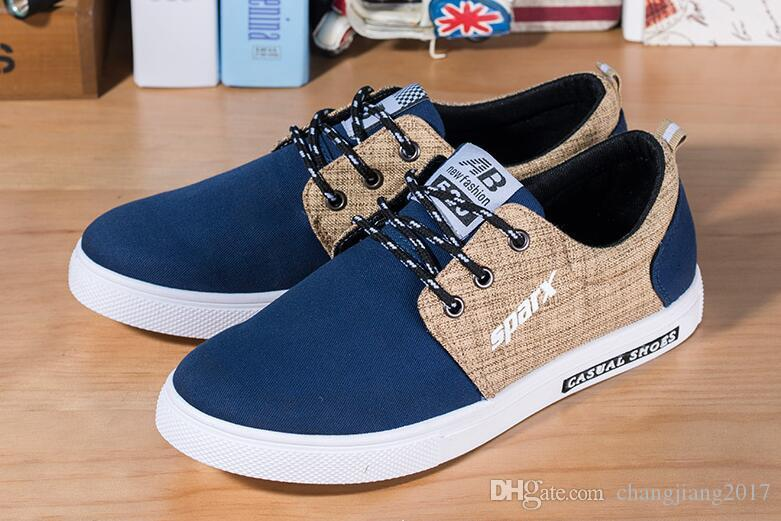 2019 best-selling popular men's Casual Shoes Canvas shoes sandals Fly line Lightweight Breathable Net surface Walking shoes