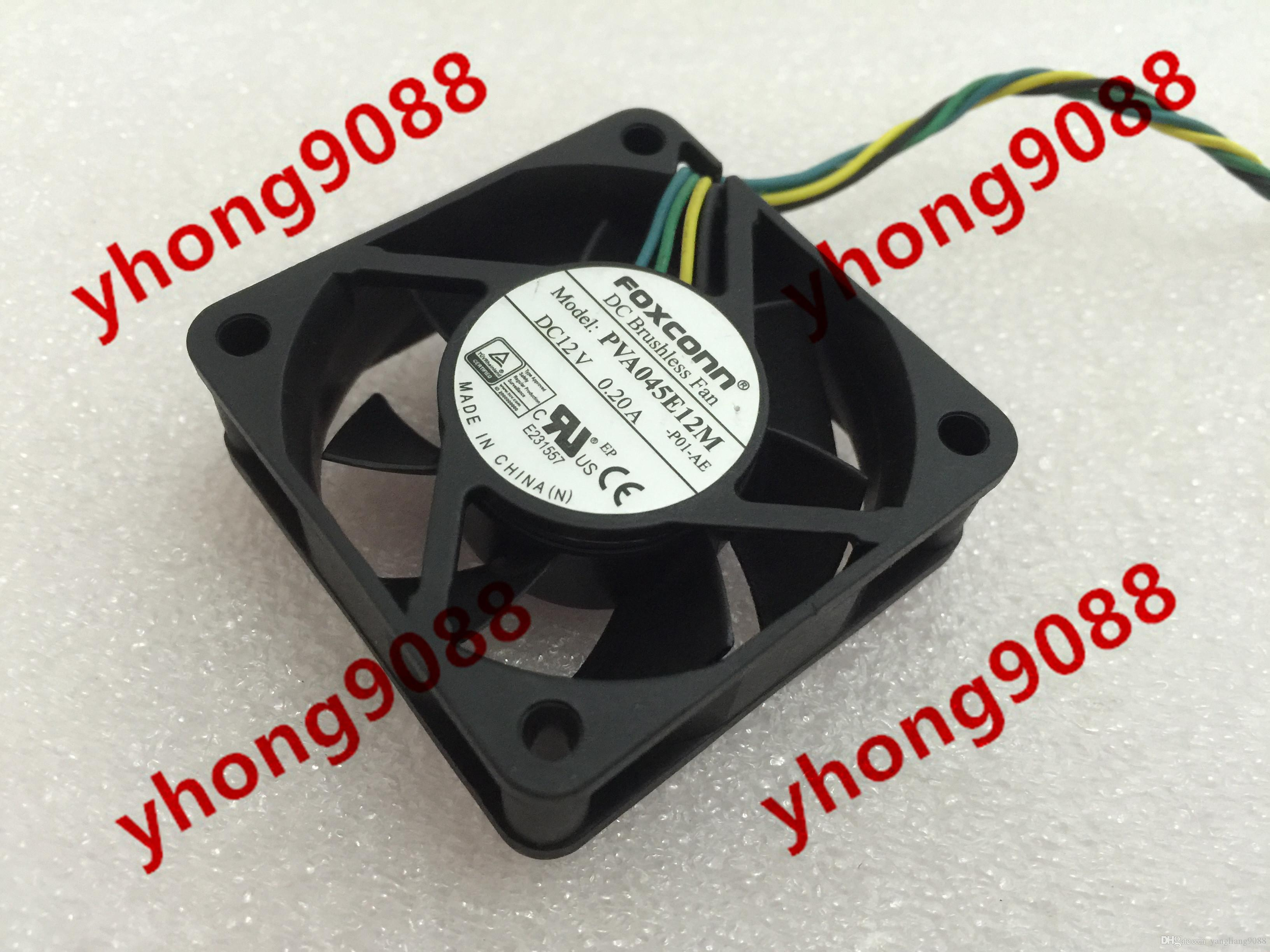 For FOXCONN PVA045E12M -P01-AE DC 12V 0.20A, 4-wire 4-pin Connector 40mm,  45x45x15mm Server Square Fan Cooling Fan PVA045E12M-P01-AE Online with ...