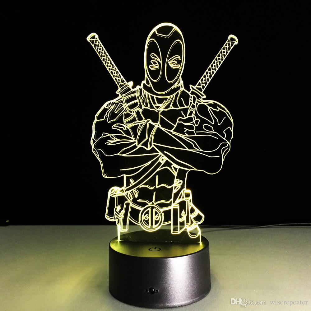 Optique Charge V 3d Gros Aa Dropshipping Light Batterie Night Lampe Dc De 5 Deadpool Usb En Illusion e2ID9WEHY