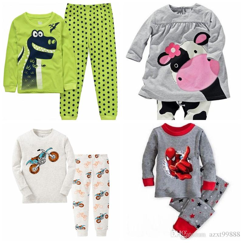 34818e80f Fashion Cute Cartoon Kids Girls   Set Tops + Sleeve Cotton Pants ...