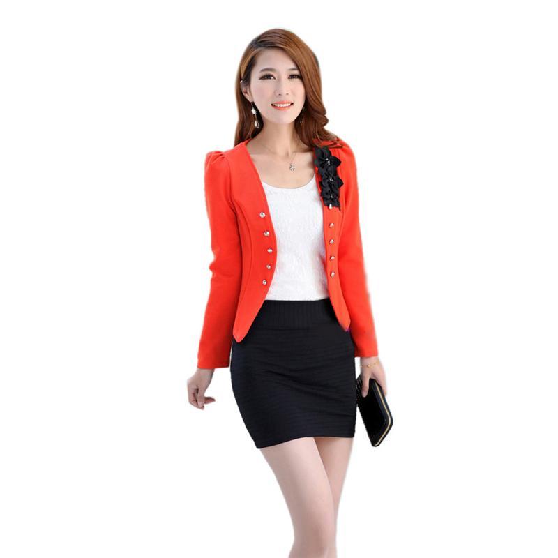 86b60ee8009a2 Wholesale 2016 Candy Color Women Fashion Korean Solid Slim Suit Tops Coat  Jacket New S M L XL XXL Coat Coats From Regine, $29.77| DHgate.Com