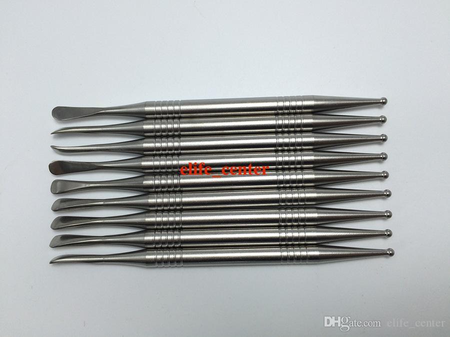 100% titanio Cera tampone strumento vax atomizzatore acciaio inox strumento tampone dabber strumento secco erba vaporizzatore penna dabber Skillet vetro globo tan