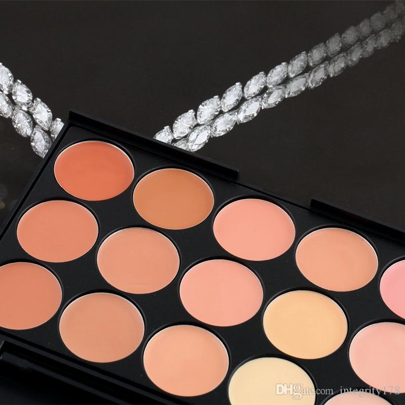 Concealer Facial Nautral Care Nake Glitter Makeup Palette Set with Beush Concealer + Brush DHL free