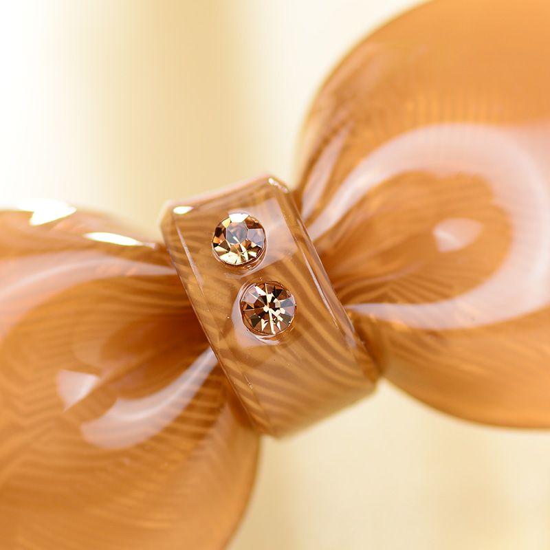 Hair clips Hot sale elegant acrylic rhinestone bowknot hair clip Luxious hair accessories crystal barrettes hairpins