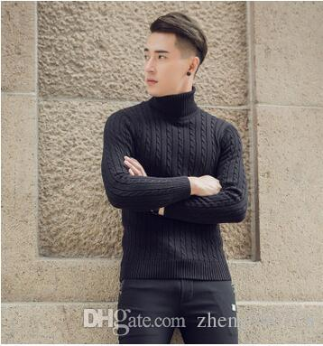 2017 New Fall And Winter Men's Turtleneck Sweaters Pure Cotton ...