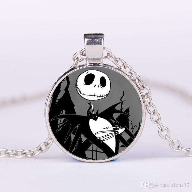 Nightmare Revisited Glass Dome Necklace Nightmare Before Christmas Necklace Glass Cabochon Dome Pendant film jewelry movie necklace 161706