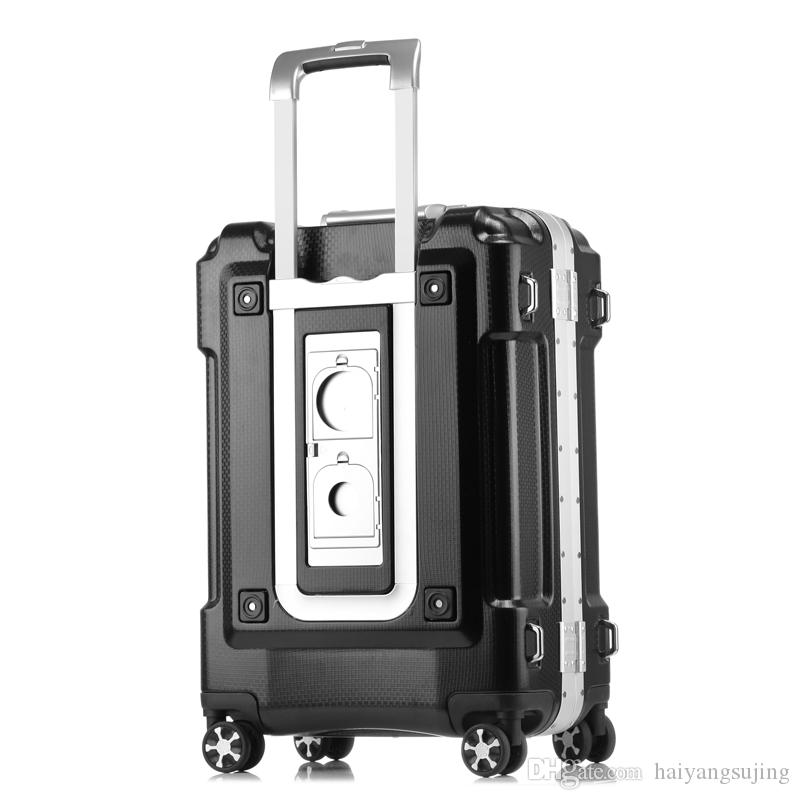 941604c916 2019 20 24 28 Inch Larger Capacity ABS PC Aluminum Frame Luggage Bag  Commercial Boarding Case Trolley Travel Suitcase Password Box Handbag From  ...