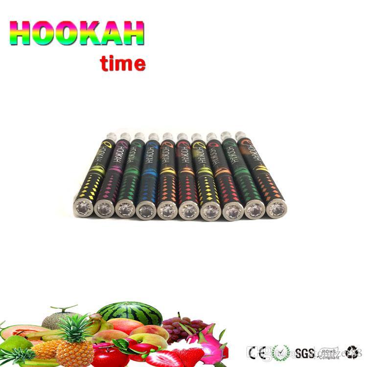 Disposable electronic cigarette vapes pen E hookah Portable shisha time 800 puffs metal tip E-shisha pen ECIG vaporizer vape cartridges