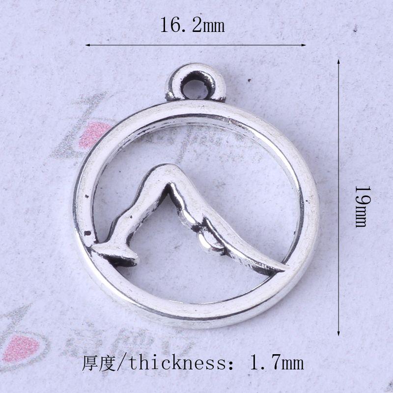 Plata antigua / bronce yoga pulseras aptas o collar DIY encantos retros joyería de aleación 300 unids / lote 100z