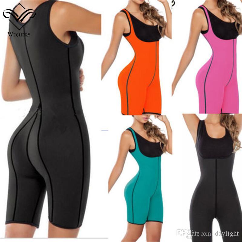 d2af304cd8 2019 Women Neoprene Full Body Shaper Ultra Sweat Sport Enhancing Bodysuit  Corset Sexy Butt Lifter Sport Gym Fitness From Daylight