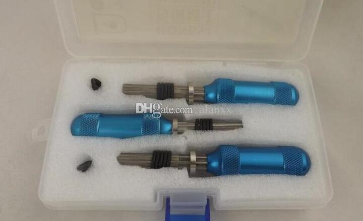 3 adet / 1 takım Genişletilmiş Tübüler Pick Çilingir 7Pin Tübüler Ayarlanabilir Manipülasyon Kilidi Pick Araçları Evrensel Anahtar Çapı Dahil 7.0 / 7.5 / 7.8mm