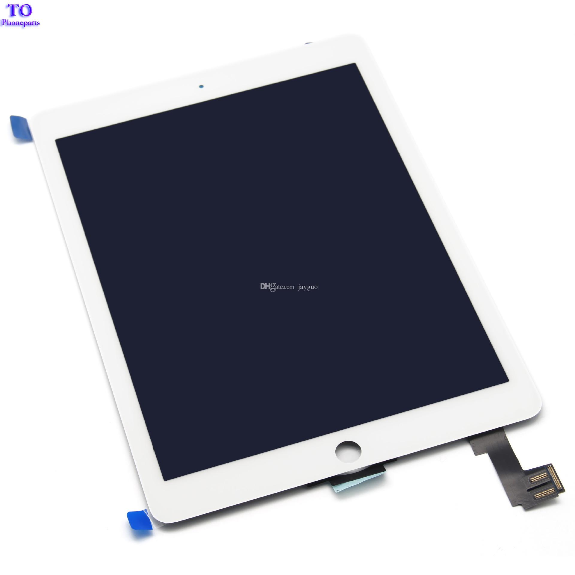 For ipad air 2 Lcd Display with Touch Screen Digitizer for ipad 6 ipad air 2 A1567 A1566 Black White Free Ship