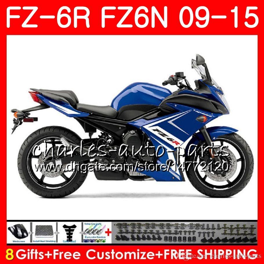 Body For YAMAHA FZ6N FZ-6N FZ6R 2009 2010 2011 2012 2013 2014 2015 82NO53 FZ-6R FZ6 R FZ 6N FZ 6R 09 10 11 12 13 14 15 blue black Fairing