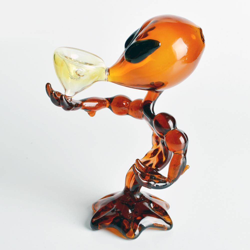 Wholesale 2015 unique alien water pipes water pipes g-spot pipe green g-spot glass pipe shaped Bong water glass gong