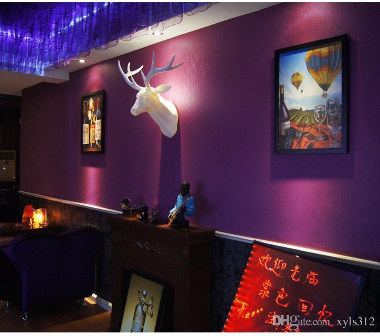 Pure purple wallpaper plain wallpaper warm wohnzimmer schlafzimmer fuß speicher cafe romantische minimalistischen für wohnzimmer schlafzimmer tv hintergrund wand