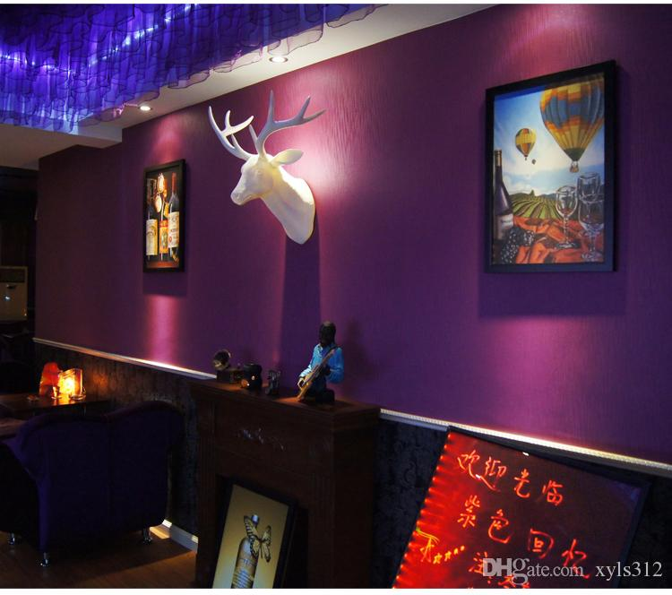 Pure purple wallpaper plain wallpaper warm living room bedroom foot store cafe romantic minimalist for livingroom bedroom tv background wall