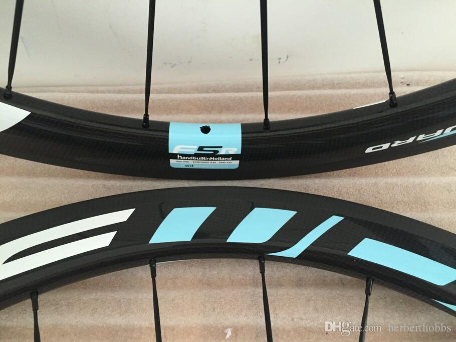Blue Ffwd Road Wheels Clincher Tubular Carbon Wheelset 700C Road Bike Bicycle Wheels 50mm 1K/3K