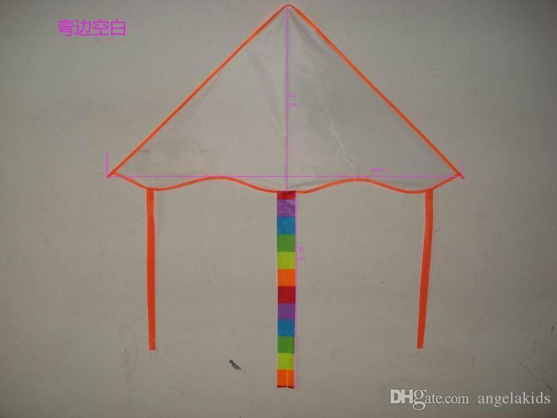 Diy cometa antiestrés descompresión juguete para niños diversión al aire libre deportes impresa cola larga mariposa regalo de la cometa