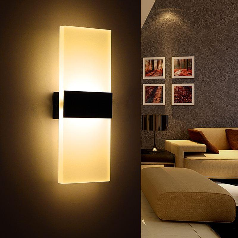 Acheter Moderne Led Wall Lamp Acryl Bed Room Applique Murale Salon
