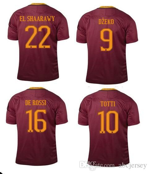 6d394e909 ... 2017 roma jersey 2016 2017 16 17 best top thailand quality de rossi  totti dzeko el