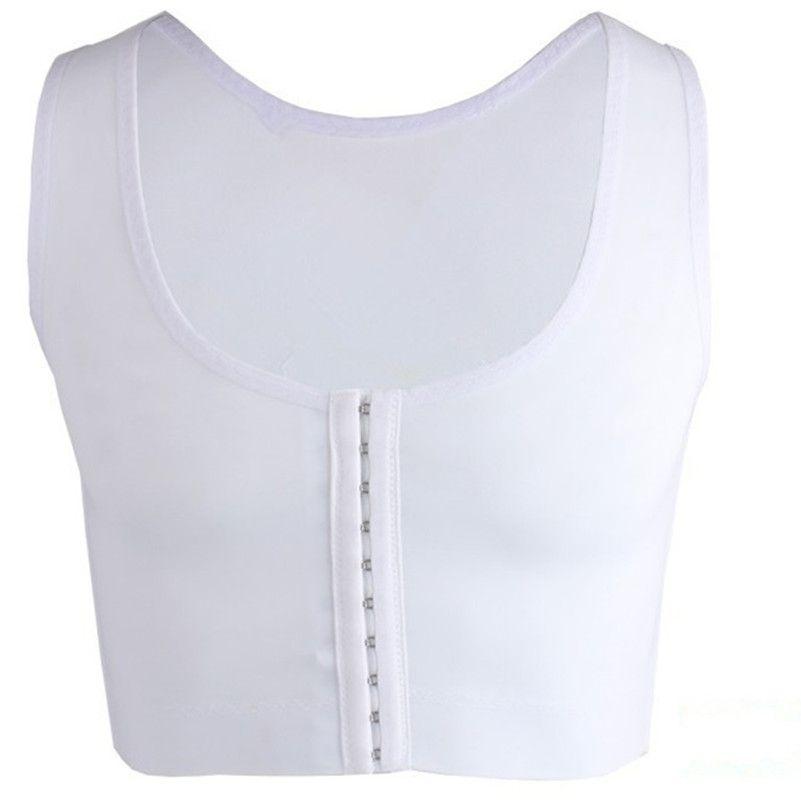 Mens Bra Gynecomastia Chest Body Shaper Vest Man Boobs Moobs e Flatten Brace Support Black White Ganci Top di controllo