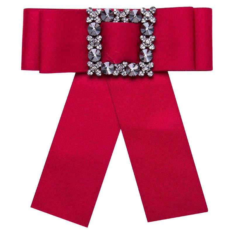 Silk ribbon Pin Brosche Promotion leinwand Kristallmosaik schmuck Manuelle Bogen Brosche für Frauen Kleidung Zubehör großhandel kostenloser versand