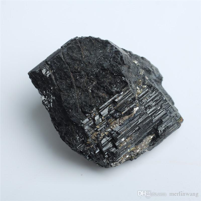Оптовая 136 г Натуральный черный кристалл турмалина Драгоценные камни Энергия Чакра Камень Минеральные Образцы гравий украшения оригинальный Рок Образец
