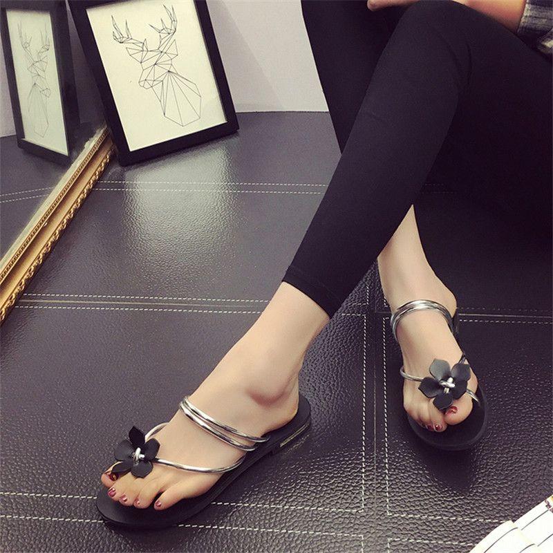 99dcadf5ae91f3 Low Heel Women s Summer Sandals Flat Beach Sandal Shoes Flip Flops Slipper Women s  Sandals Gladiator Slippers Ladies Summer Shoes Low Heel Sandal Shoes Flip  ...