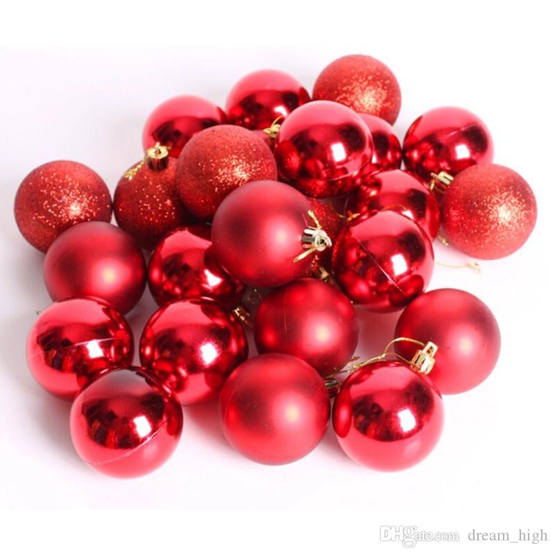 Noel ağacı süsleme 24 adet / grup Çapı 6 cm noel topları süslemeleri hediye natal noel süs navidad ücretsiz kargo