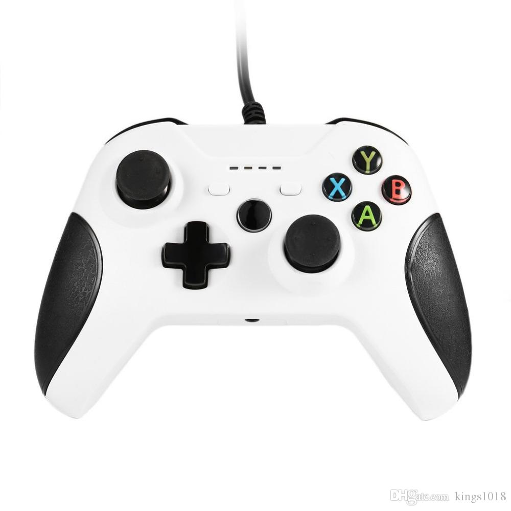 USB Wired Gamepad Remote Controller LED indicator For XBOX One Slim Controller White Joystick for XBOX One Slim Game Controller