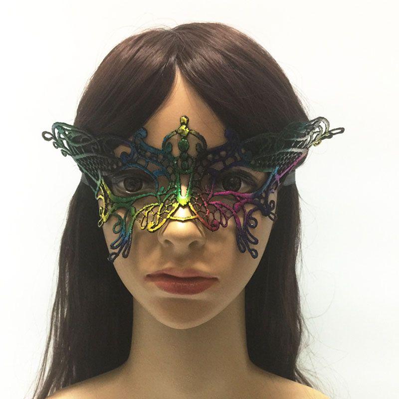 Sexy Halloween Colorful Lace Goggles Nightclub Queen Female Eye Máscaras para Masquerade Party Masks Ball Mask ZA4821