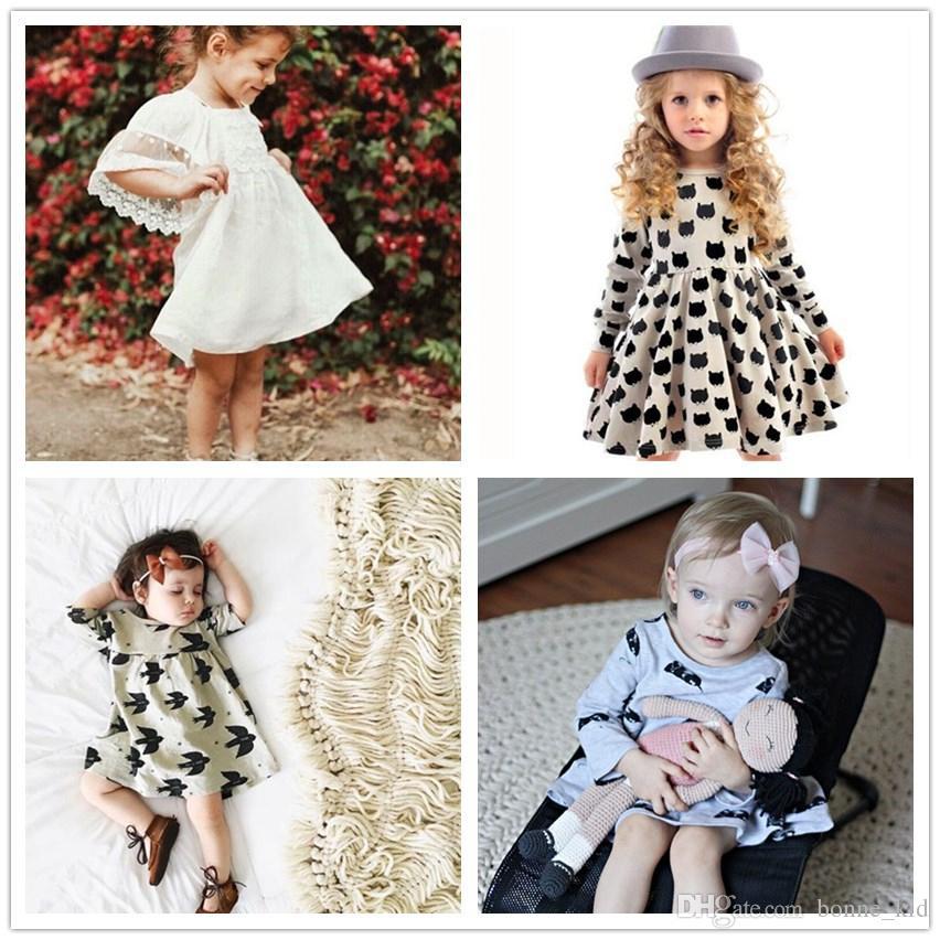 c90e5fe172c7 2019 Kid Girls Nightdress Cotton Dresses Girl Princess Dress Baby ...
