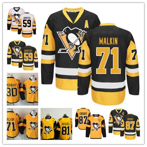 2019 Pittsburgh Penguins 2017 Stanley Cup Champions 50th 100th Three Patches  Jersey 71 Evgeni Malkin 87 Sidney Crosby  30 Murray  58  59  81  17 From ... 2a5071abc