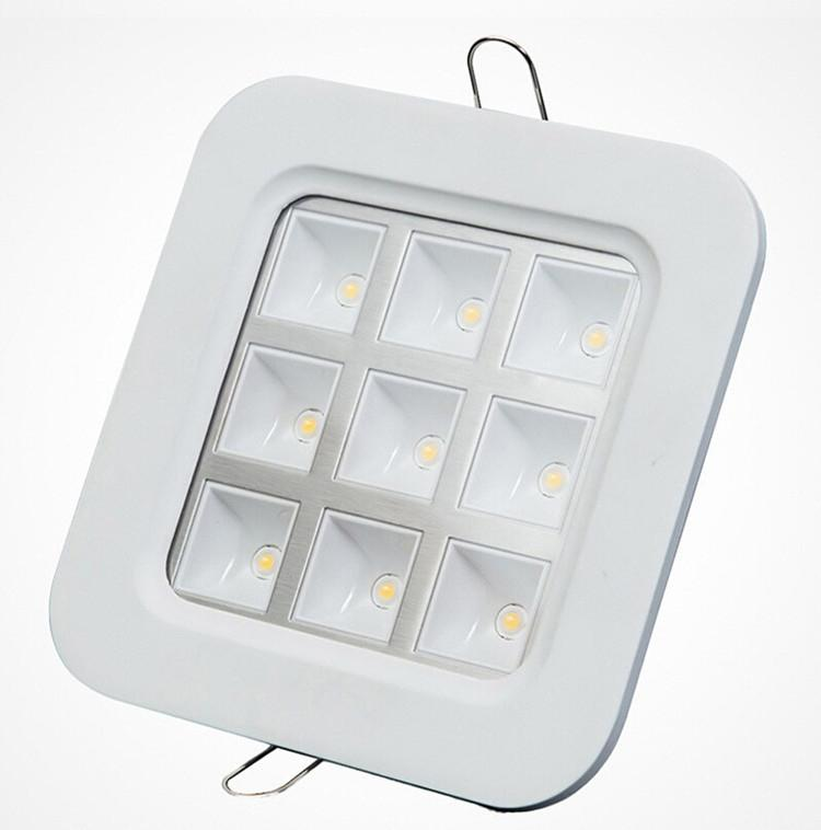 Factory Wholesale Price square 9*1W recessed Led Grille Led ceiling light/Led down light/Led lattice light,size:150mm*150mm