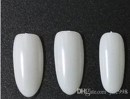 Oval Nails Tips rotonda Fullwell Bianco punte di colore falsa del chiodo punte di arte all'ingrosso falsa del chiodo punte di arte finte unghie acriliche Nail Tips