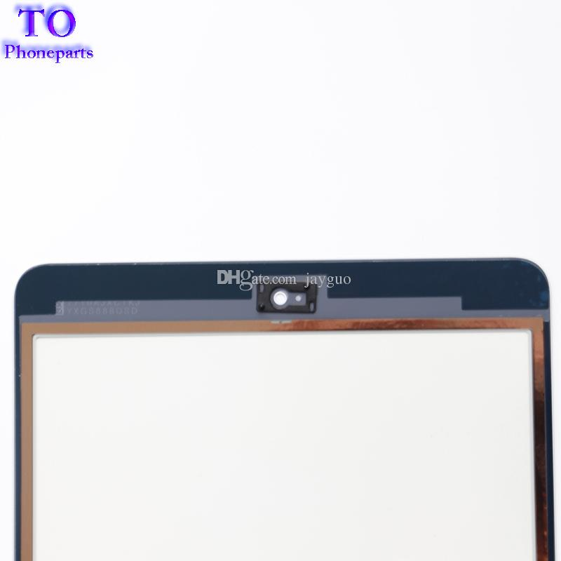 For iPad mini 1 mini 2 Touch Screen Panel Digitizer Glass Panel Lens Sensor Repair + IC +Home Button Flex