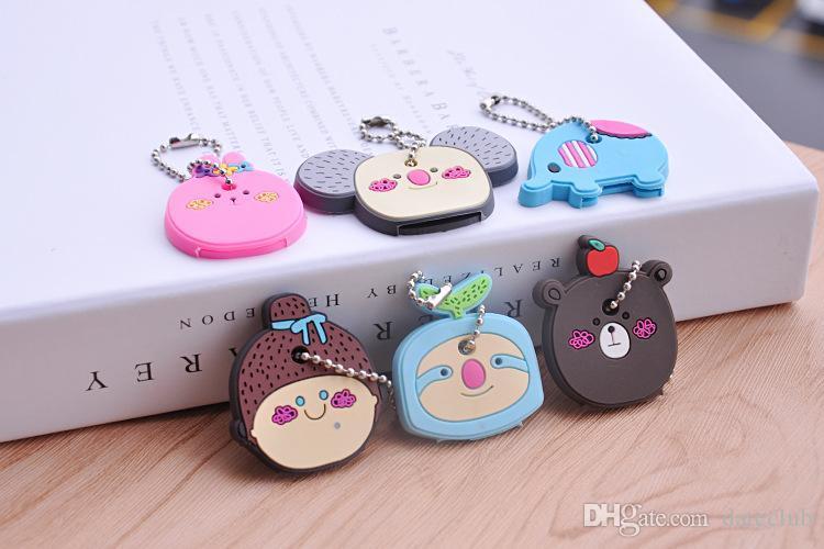 23 Styles Porte-clés Minion Silicon soft key couvre les chaînes de panda Cas Stitch Keychain Emballage de détail Emballage Livraison Gratuite