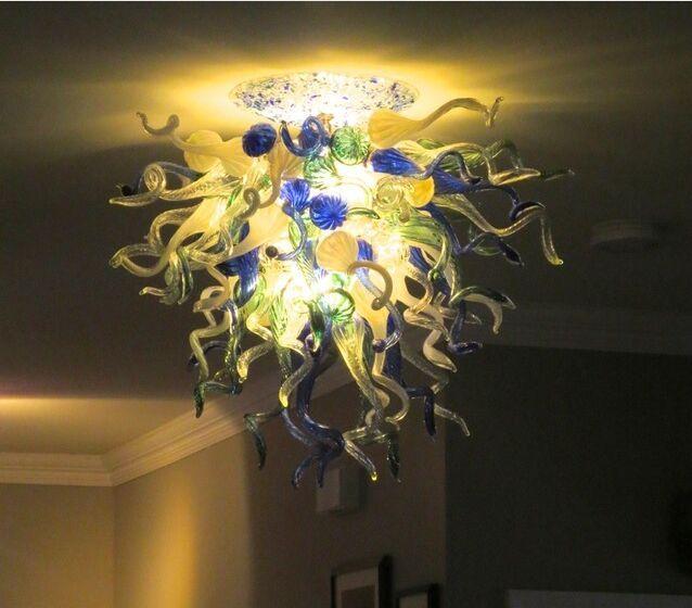 Modern LED Light Source Lamps Lampadari in vetro soffiato di cristallo Lampadari in vetro stile italiano Lampadario a soffitto illuminazione