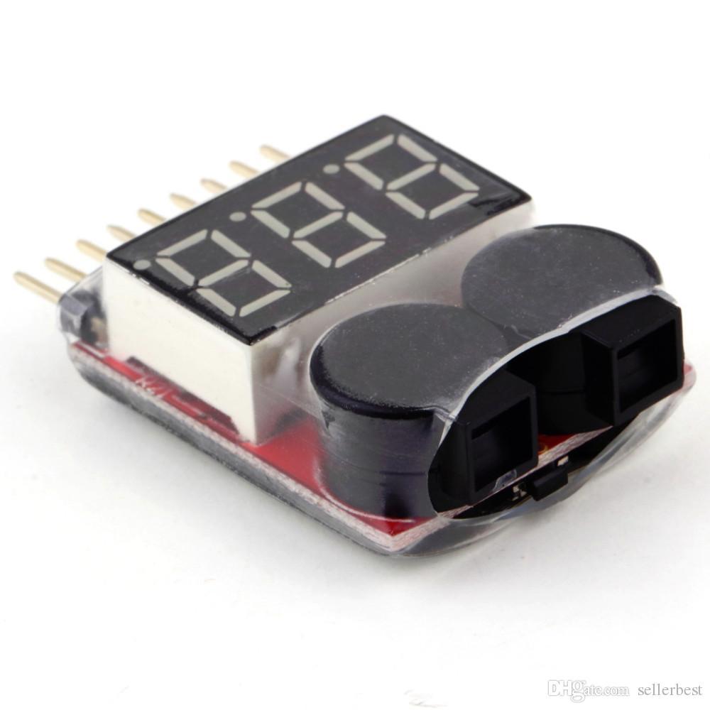 1-8S Lipo / Li-ion / LiMn / Li-Fe 배터리 전압 2IN1 테스터 용 저전압 버저 경보 BB 음 모델 비행기 UAV에 대한주의 사항